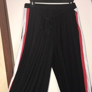 Red and white strip pant